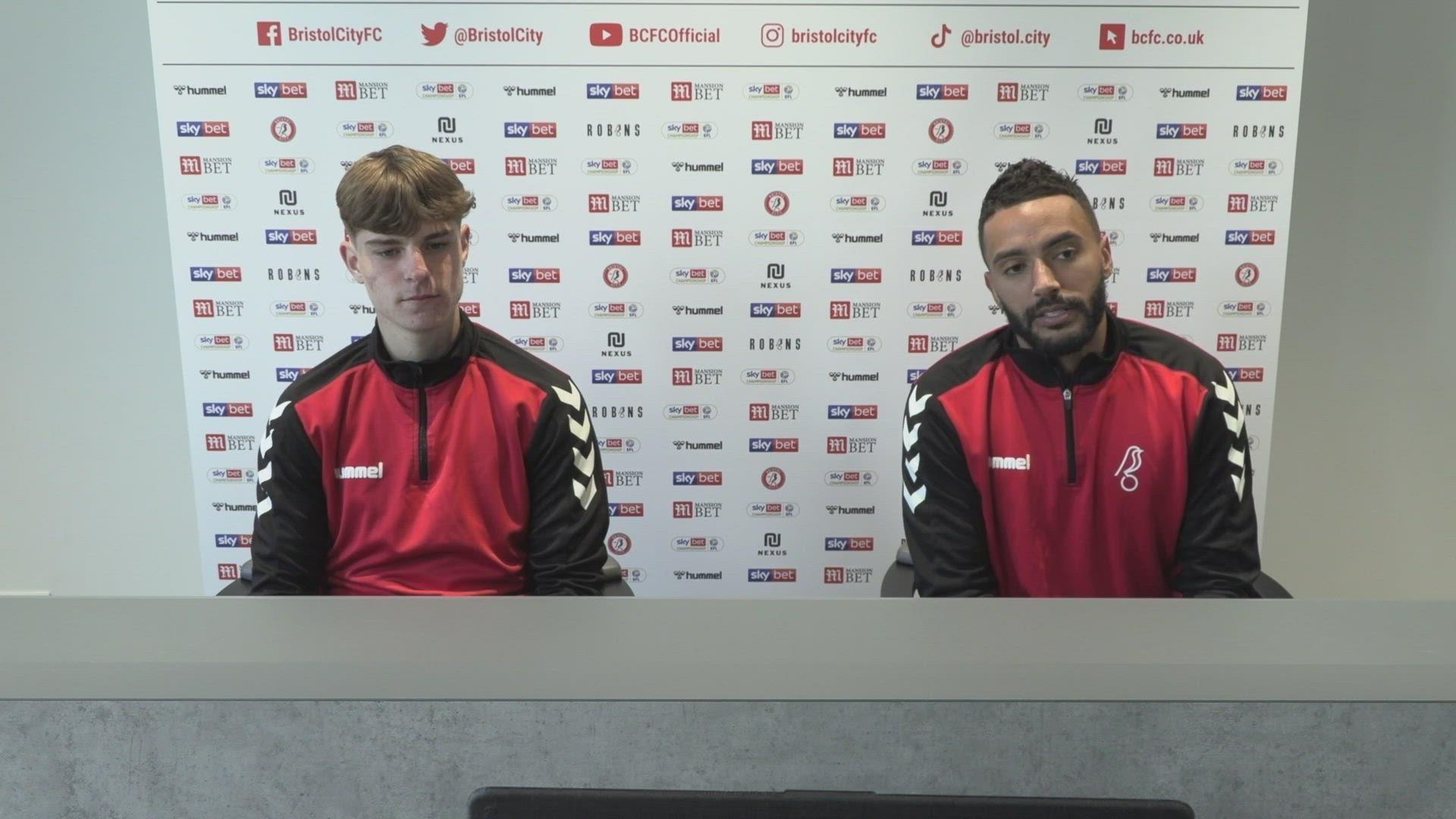 Alex Scott & Danny Simpson press conference | Bristol City vs Brentford
